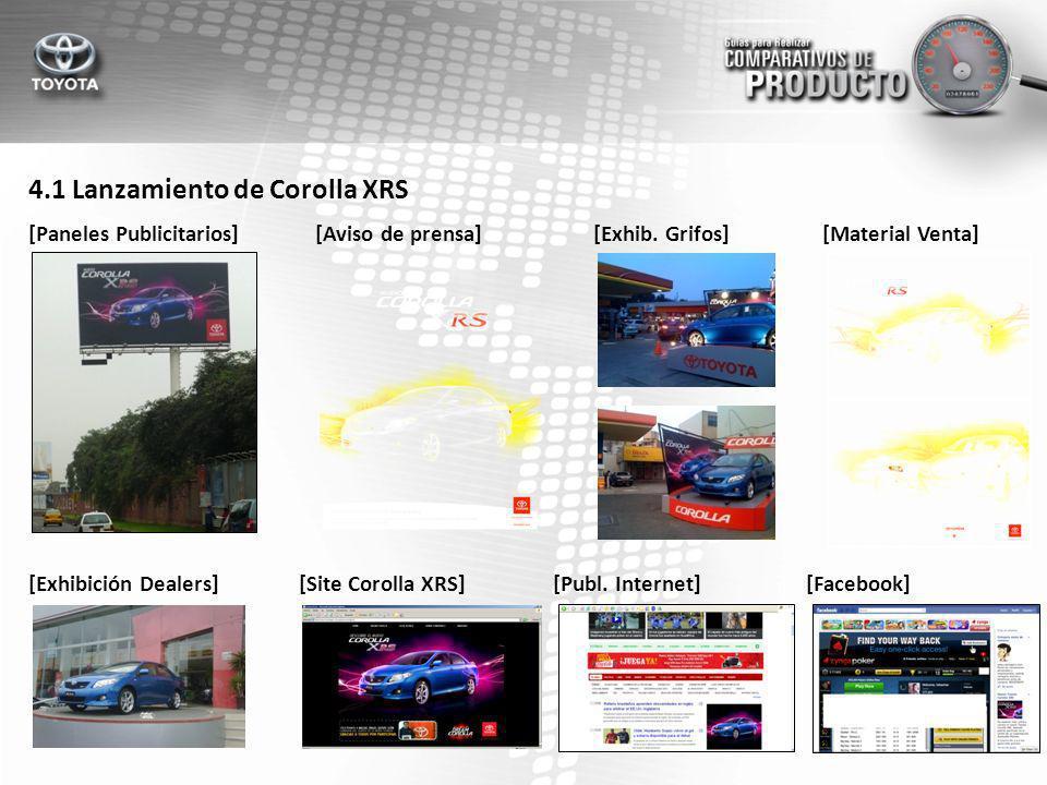 4.1 Lanzamiento de Corolla XRS [Paneles Publicitarios] [Exhibición Dealers] [Aviso de prensa][Exhib.