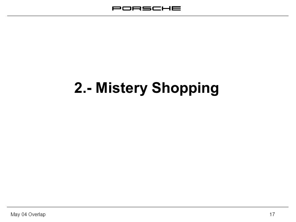 May 04 Overlap17 2.- Mistery Shopping
