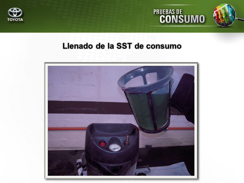 Llenado de la SST de consumo