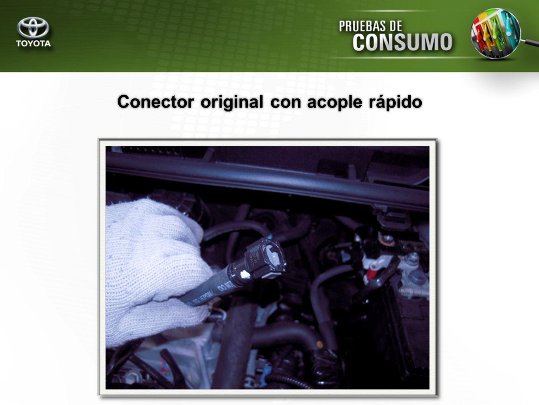 Conector original con acople rápido
