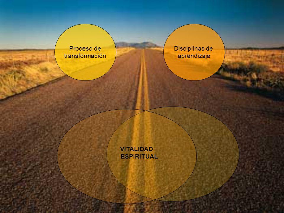 Proceso de transformación Disciplinas de aprendizaje VITALIDAD ESPIRITUAL