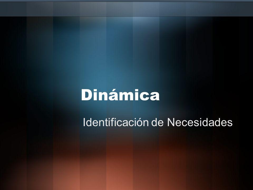 Identificación de Necesidades Necesidades –EXPLICTAS –EXPLICTAS (Las que quieres que exprese) –No son fijas –Se pueden alterar –Usa Preguntas Cerradas