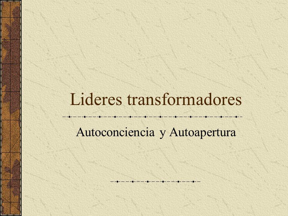 Lideres transformadores Autoconciencia y Autoapertura