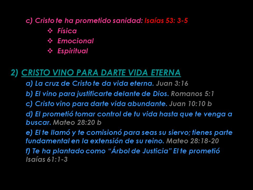 LA CRUZ QUE ME HIZO LIBRE 1) CRISTO PROMETE SANIDAD A TU VIDA a) La consecuencia del pecado es la muerte. Génesis 3:14-19; Romanos 3:23; 6:23 La ley n