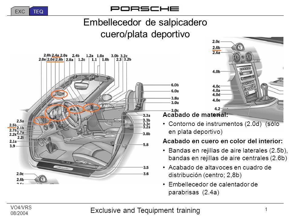VO4/VRS 08/2004 Exclusive and Tequipment training 32 Door entry guards in stainless steel Seguros de puertas en acero inoxidable EXC TEQ