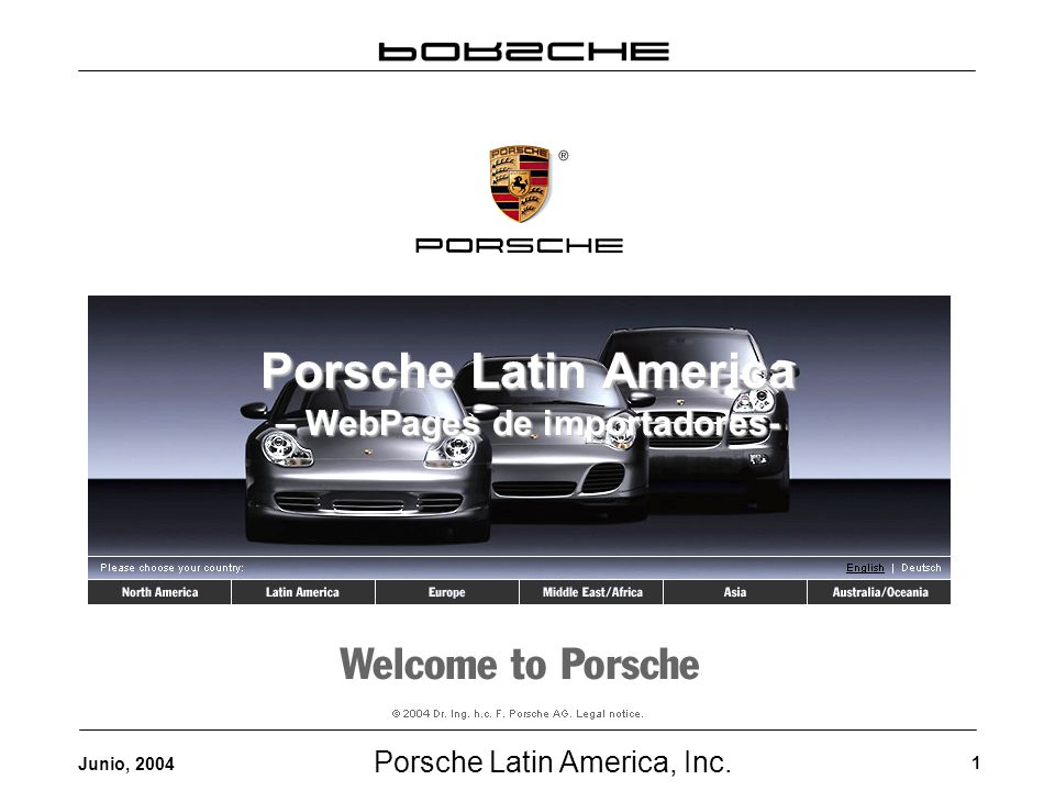 Porsche Latin America, Inc.22 Junio, 2004 3.