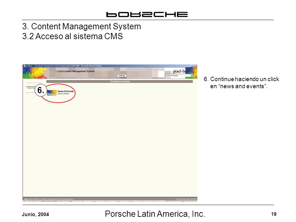 Porsche Latin America, Inc. 19 Junio, 2004 3.