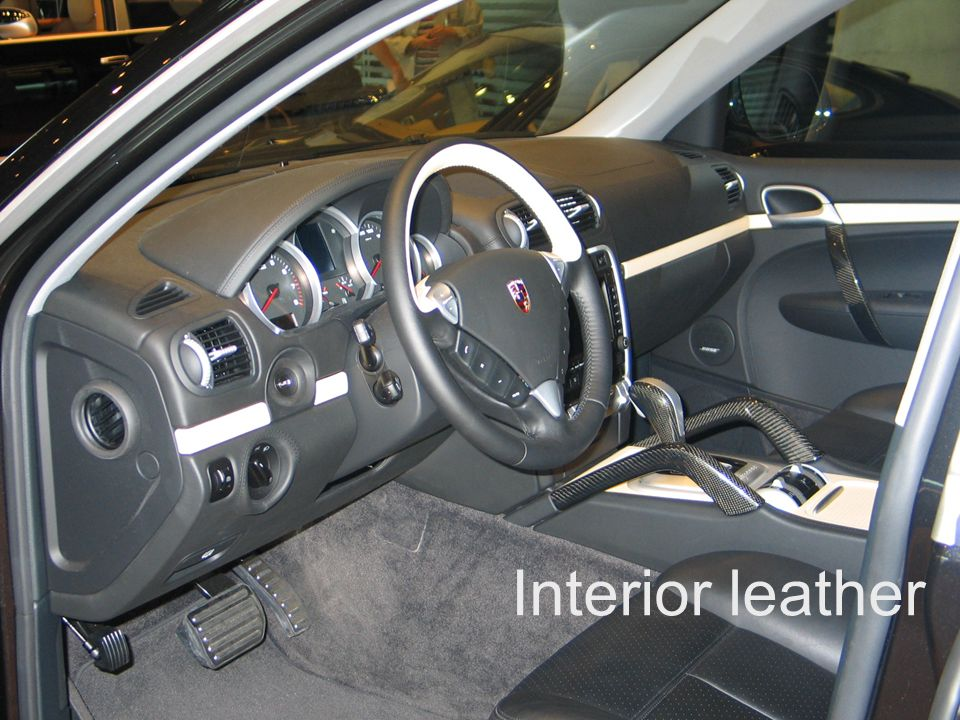 Exclusive and Tequipment product training VRS Sheet 24 Interior leather