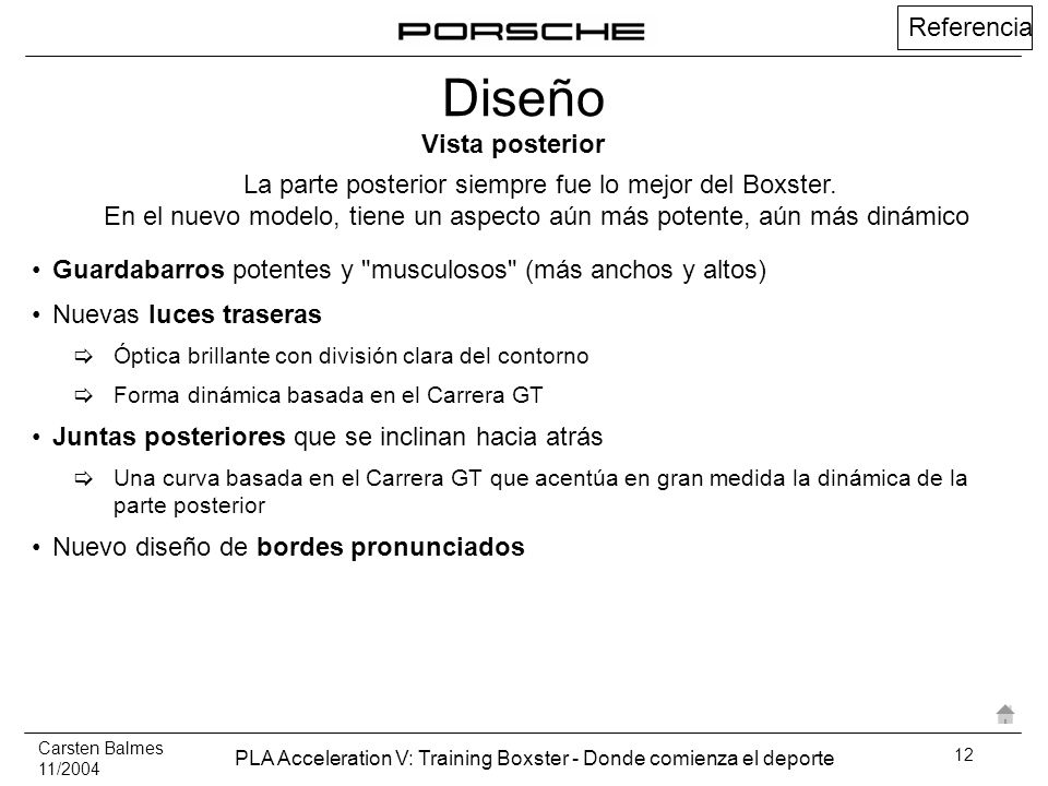 Carsten Balmes 11/2004 PLA Acceleration V: Training Boxster - Donde comienza el deporte 12 Referencia Guardabarros potentes y
