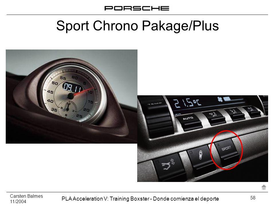 Carsten Balmes 11/2004 PLA Acceleration V: Training Boxster - Donde comienza el deporte 58 Sport Chrono Pakage/Plus