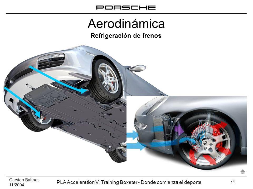 Carsten Balmes 11/2004 PLA Acceleration V: Training Boxster - Donde comienza el deporte 74 Refrigeración de frenos Aerodinámica
