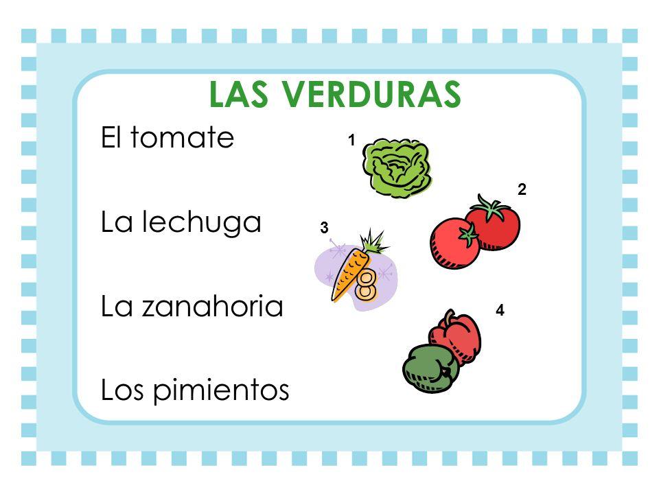 Ahora que sabemos algo más de comida… ¿Podéis decirme el nombre o número de cada dibujo?
