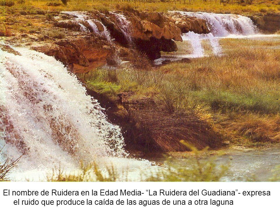 El nombre de Ruidera en la Edad Media- La Ruidera del Guadiana- expresa el ruido que produce la caída de las aguas de una a otra laguna