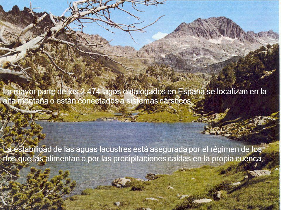 La mayor parte de los 2.474 lagos catalogados en España se localizan en la alta montaña o están conectados a sistemas cársticos. La estabilidad de las