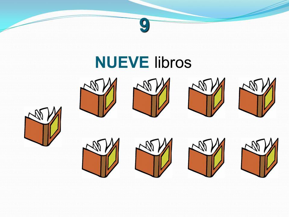 9 NUEVE libros