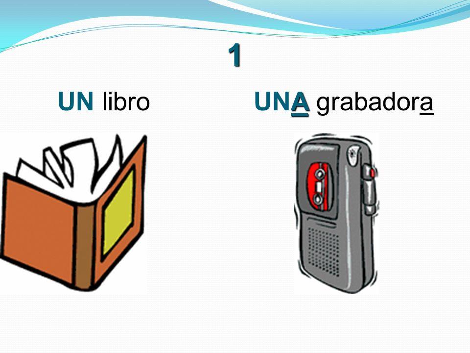 1 A UN libro UNA grabadora