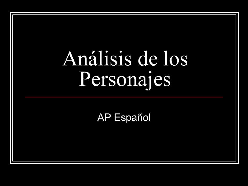 Análisis de los Personajes AP Español