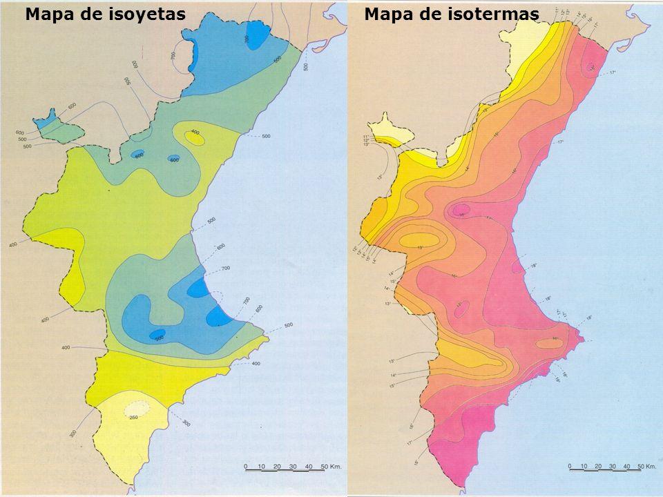 Mapa de isoyetasMapa de isotermas
