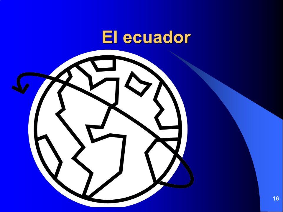 16 El ecuador