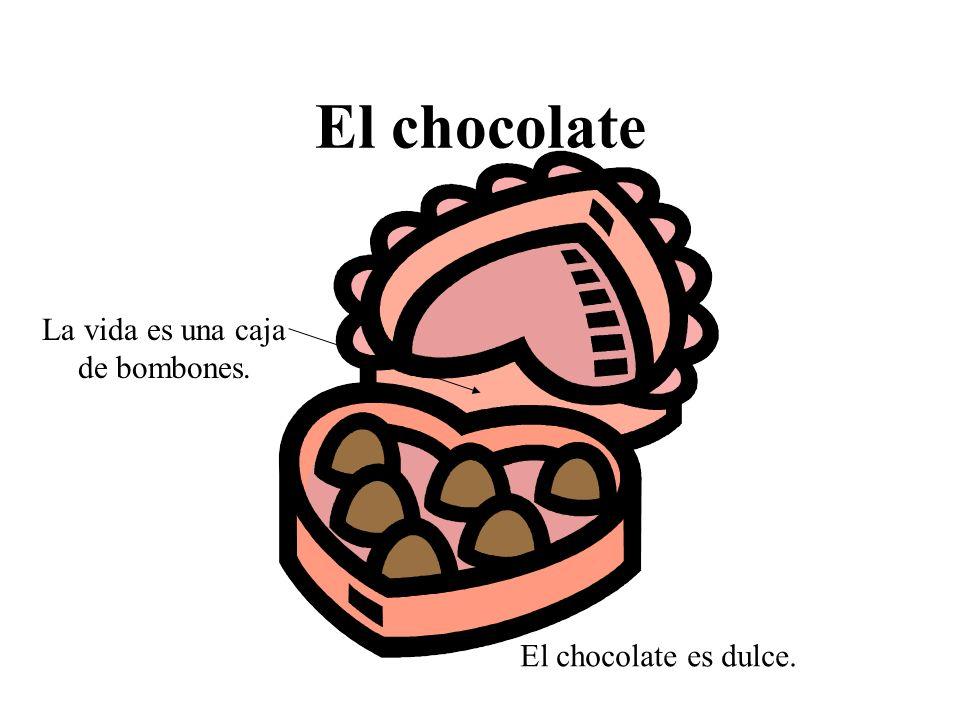 El chocolate El chocolate es dulce. La vida es una caja de bombones.