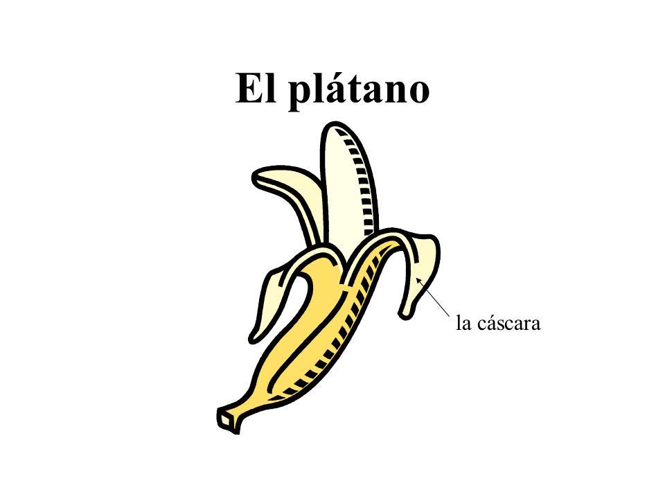 El plátano la cáscara