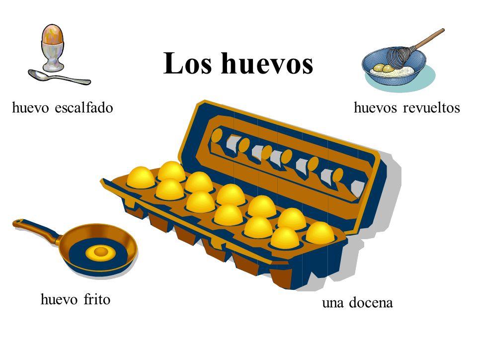 Los huevos una docena huevo frito huevos revueltoshuevo escalfado