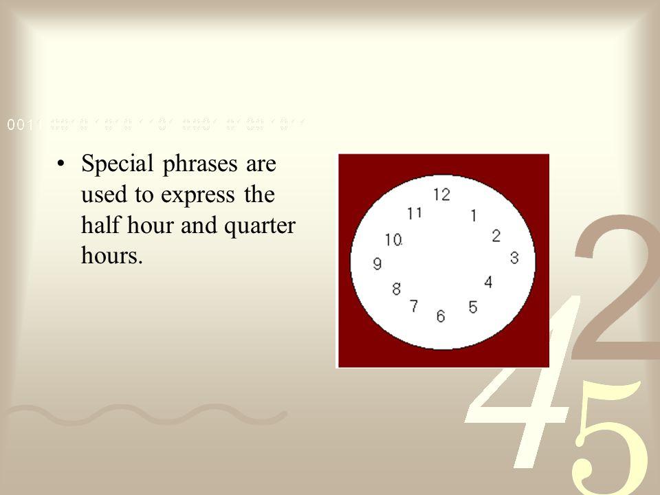 ¿Qué hora es? Son las doce menos veinte.