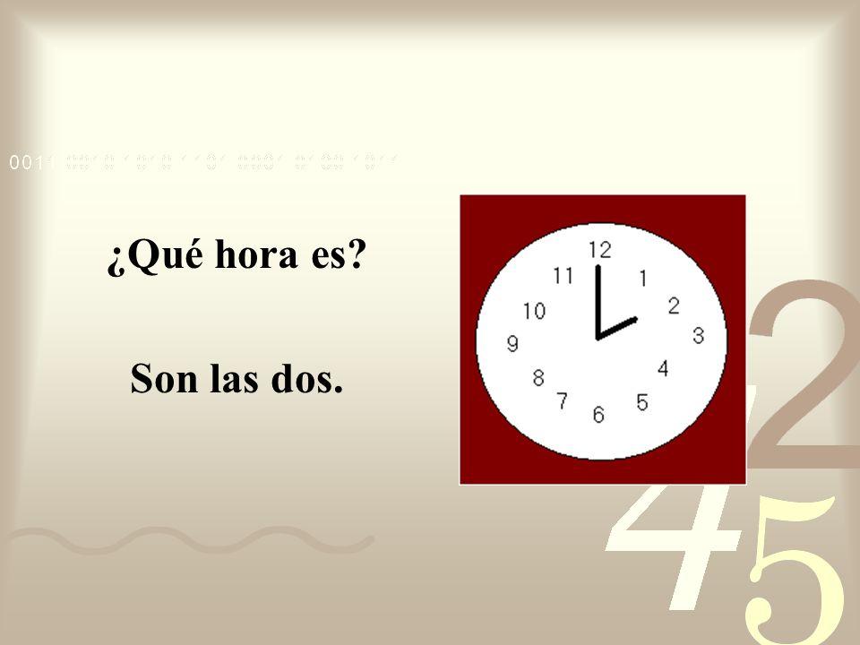 ¿Qué hora es? Son las doce y cinco.