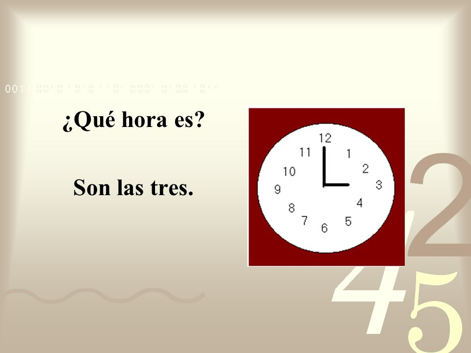 To say quarter past the hour use the following phrase: hour + y cuarto (and a quarter)