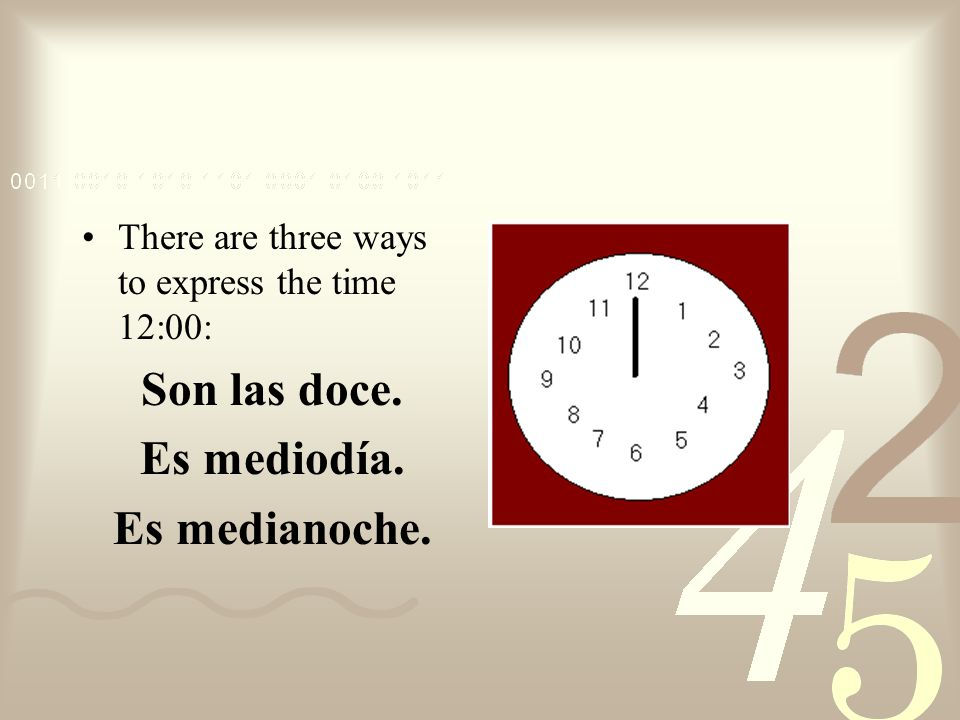 When it is 31 minutes or more past the hour the following pattern is more commonly used: next hour + menos + minutes before the next hour