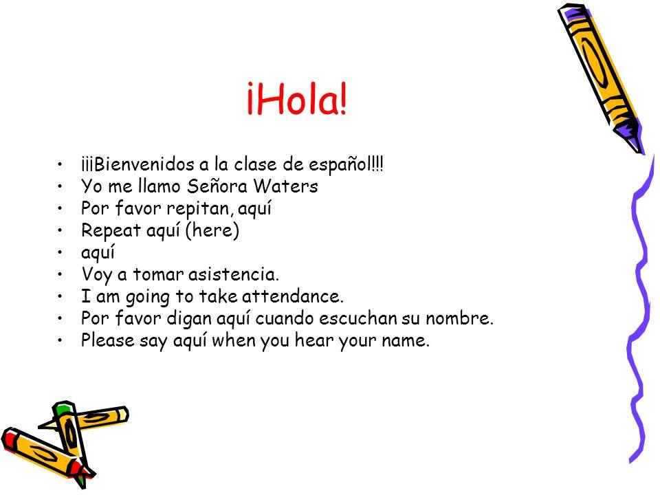 Ahora… Vamos a aprender unos mandatos y vocabulario en español hoy.