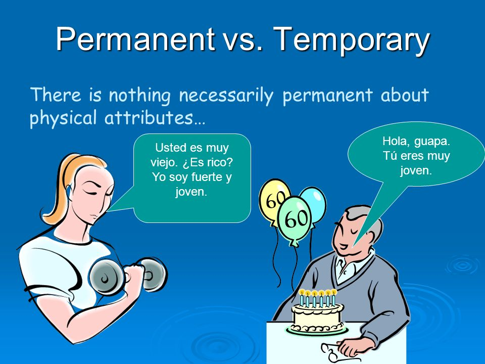 Ser v. Estar Permanent vs. Temporary