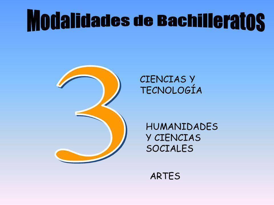HUMANIDADES Y CIENCIAS SOCIALES ARTES CIENCIAS Y TECNOLOGÍA