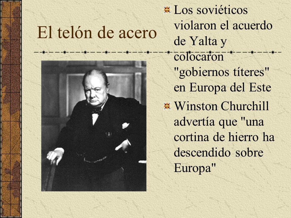 El telón de acero Los soviéticos violaron el acuerdo de Yalta y colocaron
