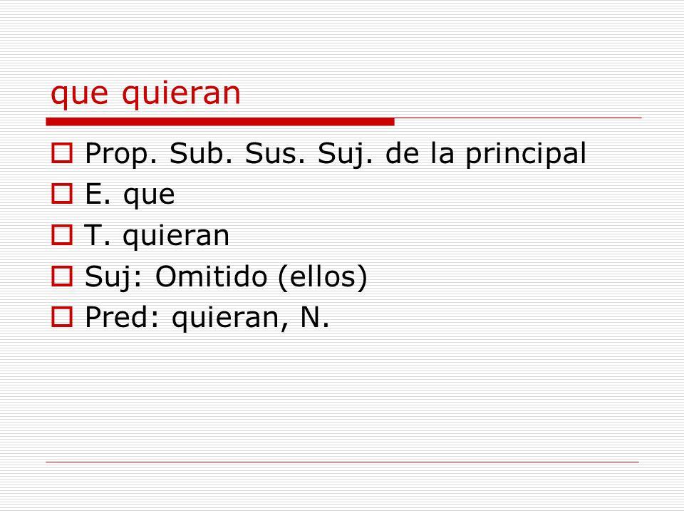 castigar a tu hermano Prop.Sub. Sust. CD de la proposición anterior Suj.