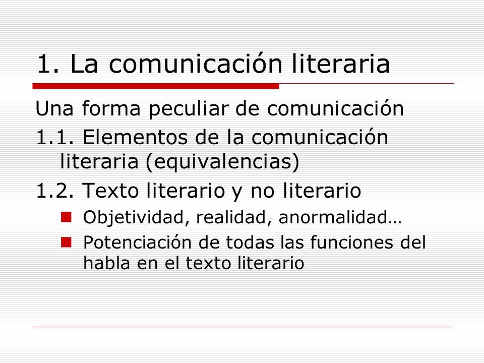 2.La lengua literaria 2.1. Prosa y verso 2.2.