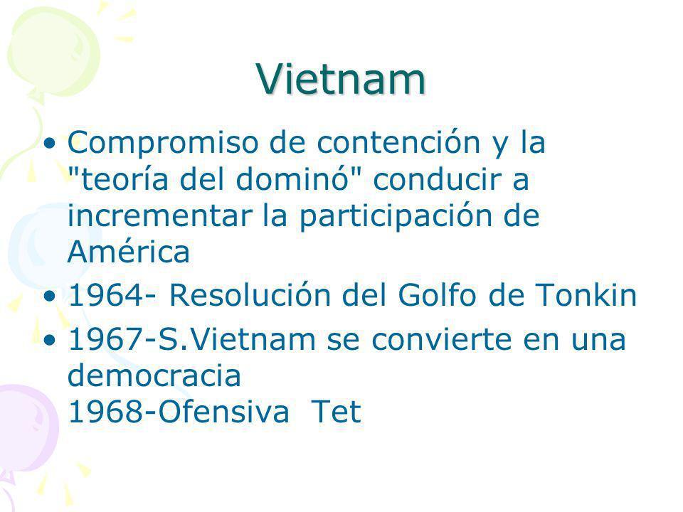 Vietnam Compromiso de contención y la