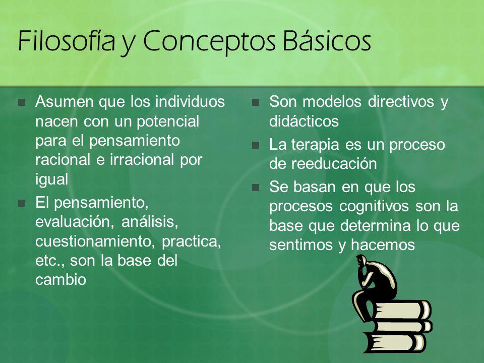 Filosofía y Conceptos Básicos Asumen que los individuos nacen con un potencial para el pensamiento racional e irracional por igual El pensamiento, eva