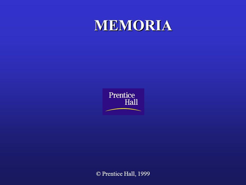 © Prentice Hall, 1999 MEMORIA