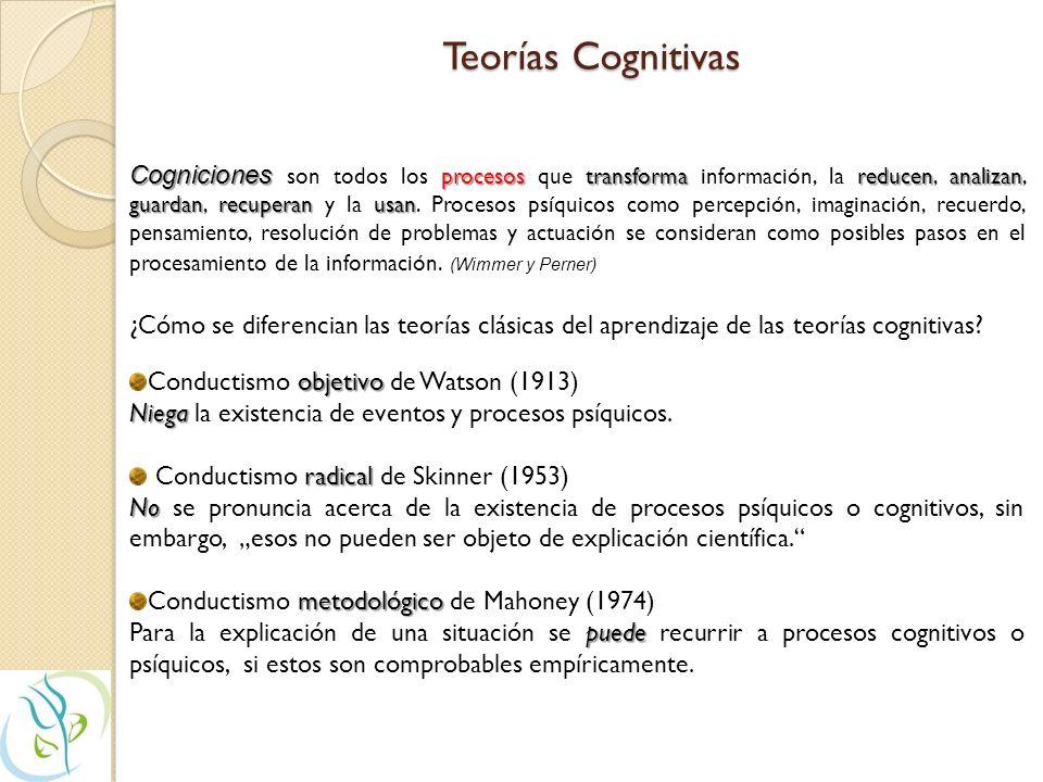 Tendencias recientes en las Teorías Clásicas del Aprendizaje Teorías del aprendizaje social conjunto BanduraMischel Es un conjunto de teorías reciente
