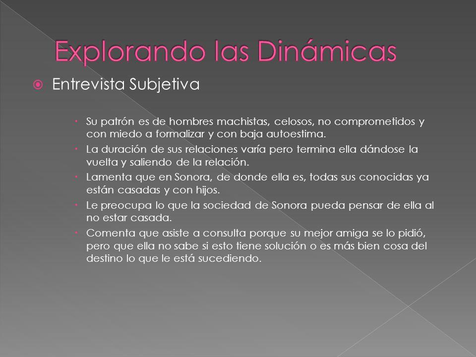 Entrevista Objetiva (lifestyle assessment) La cliente ABC es la hija pequeña de 3 hermanos.