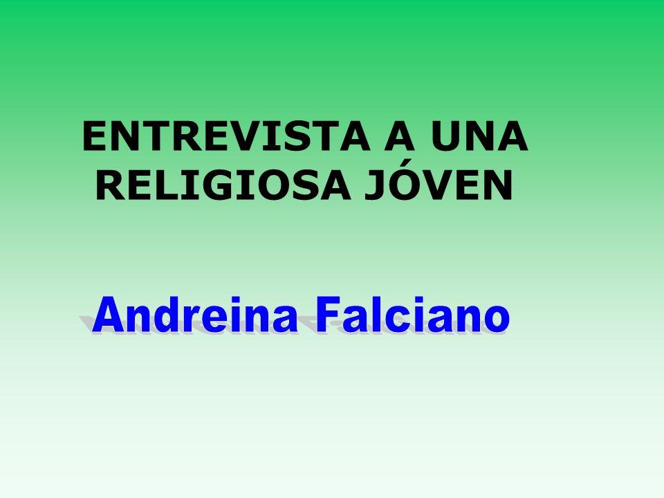 Tenemos hoy entre nosotr@s a Andreina Falciano, religiosa Hija del Patrocinio de María.