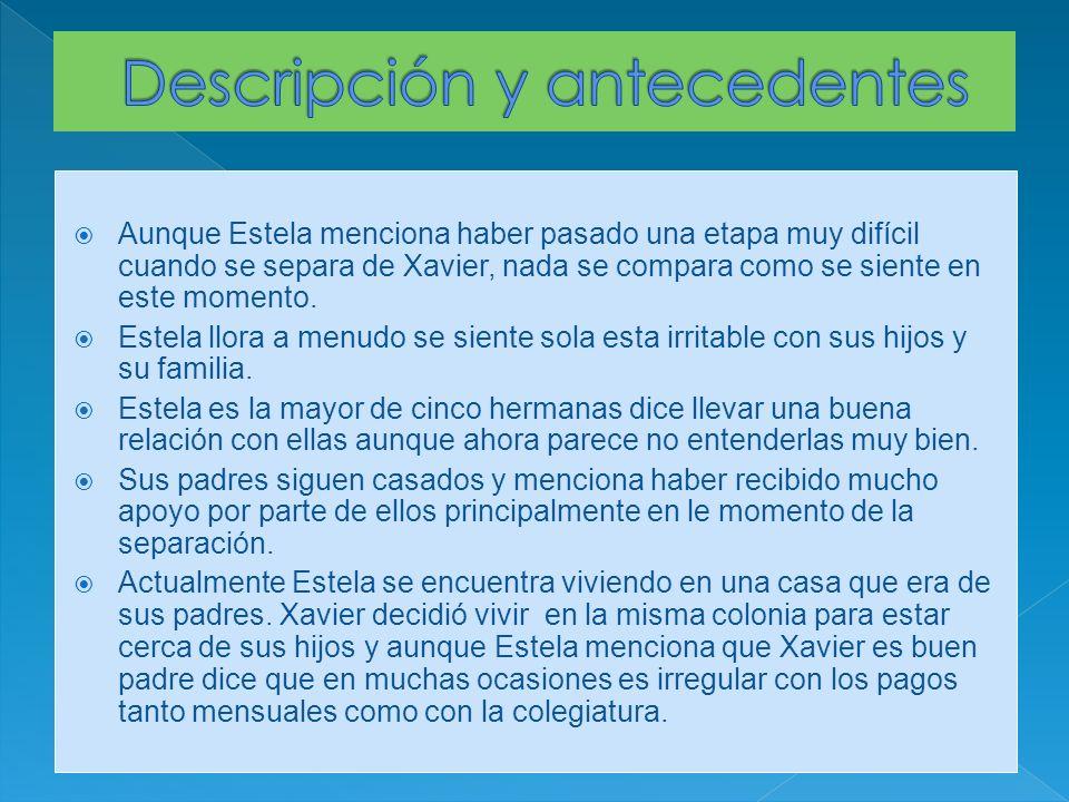 Aunque Estela menciona haber pasado una etapa muy difícil cuando se separa de Xavier, nada se compara como se siente en este momento.
