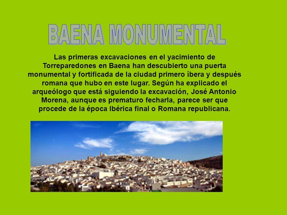 Las primeras excavaciones en el yacimiento de Torreparedones en Baena han descubierto una puerta monumental y fortificada de la ciudad primero íbera y