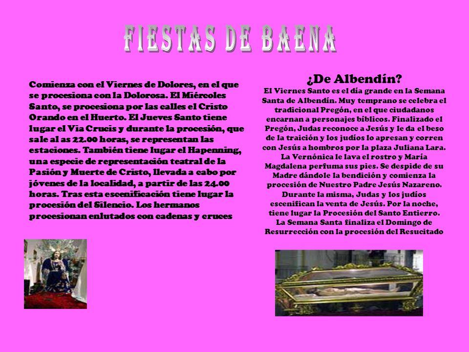 ¿De Albendín? El Viernes Santo es el día grande en la Semana Santa de Albendín. Muy temprano se celebra el tradicional Pregón, en el que ciudadanos en