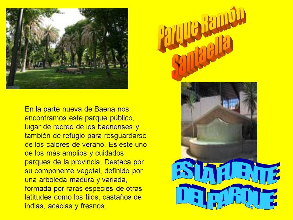 En la parte nueva de Baena nos encontramos este parque público, lugar de recreo de los baenenses y también de refugio para resguardarse de los calores de verano.