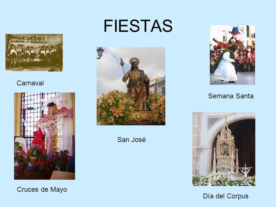 FIESTAS Carnaval Semana Santa San José Cruces de Mayo Día del Corpus
