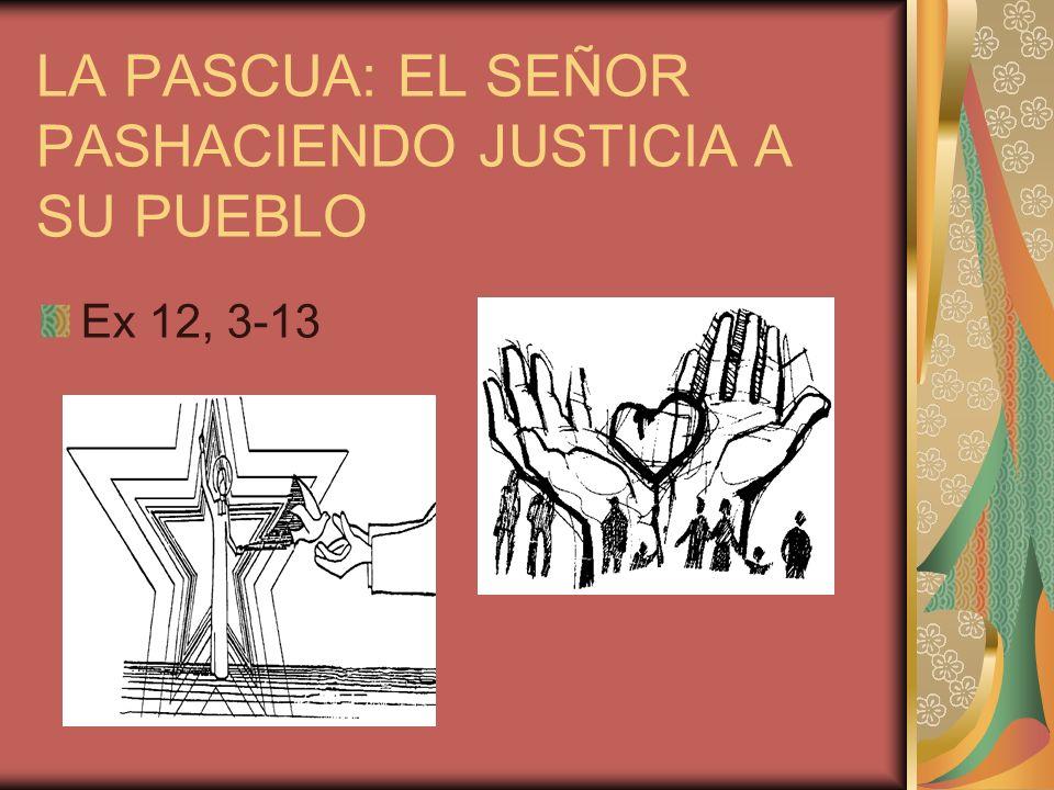 LA PASCUA: EL SEÑOR PASHACIENDO JUSTICIA A SU PUEBLO Ex 12, 3-13