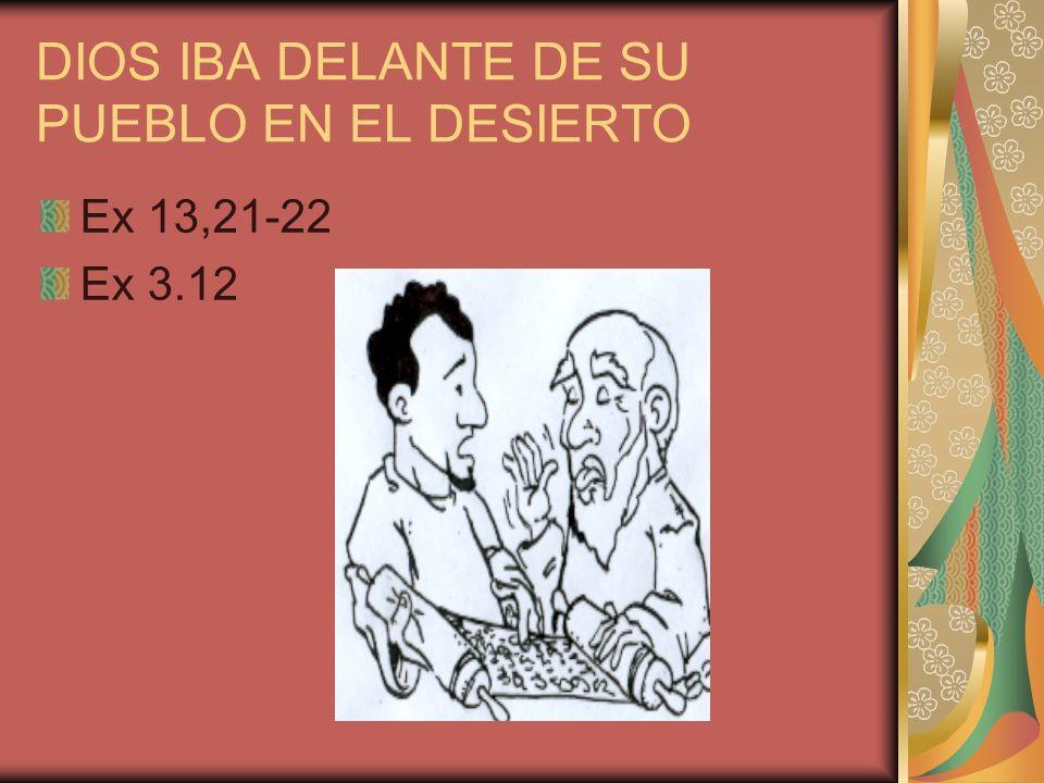 DIOS IBA DELANTE DE SU PUEBLO EN EL DESIERTO Ex 13,21-22 Ex 3.12