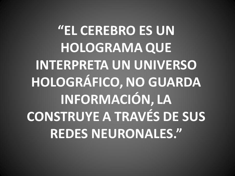 EL CEREBRO ES UN HOLOGRAMA QUE INTERPRETA UN UNIVERSO HOLOGRÁFICO, NO GUARDA INFORMACIÓN, LA CONSTRUYE A TRAVÉS DE SUS REDES NEURONALES.